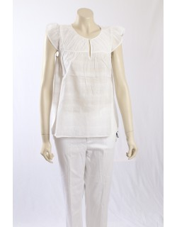 French Connection light white sheer pullover shirt - Size 10