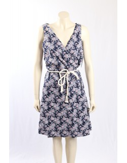 Tommy Hilfiger blue cotton wrap dress - Size 16/L