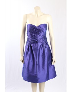 Adrianna Papell-Size 14- Purple Strapless Cocktail Dress