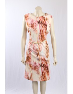 Calvin Klein beige snake print wear to work dress - Size 22W