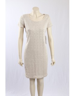 Evan Picone -Size 16- Cream Knitted Sweaterdress