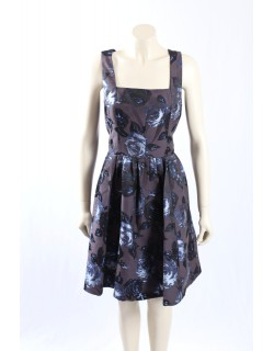 MUSE grey/purple -Size 16/18- Floral Print Dress