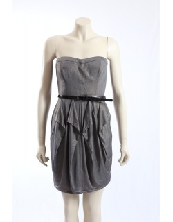 Jessica Simpson charcoal gold party cocktail dress Size16