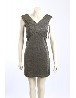 Adrianna Papell -Size 8P- Metalic Gold Party Dress