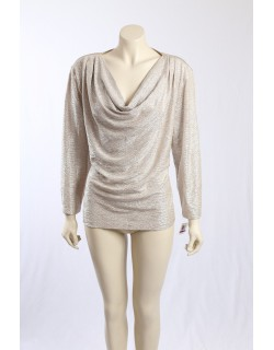 MSK -Size XXL- Ivory Gold Party Top