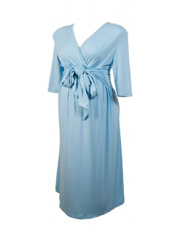 Lucy - Comfortable maternity dress light blue