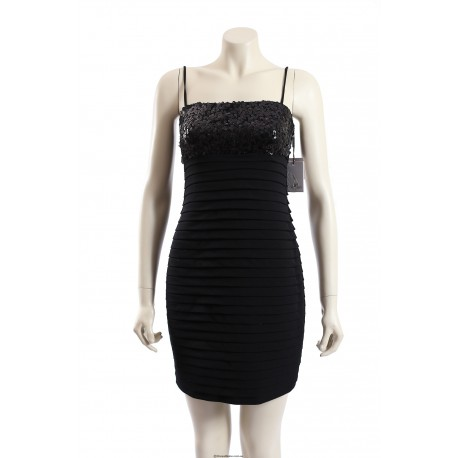Calvin Klein -Size 14- Black Cocktail Dress w/ Sequin Bust