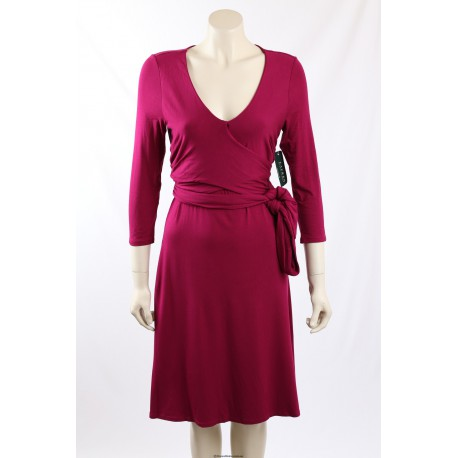 Ralph Lauren Faux Wrap Pink Dress - Size S