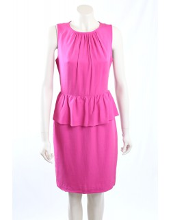 Trina Turk -Size 8- Pink Peplum Work Dress
