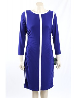 Ralph Lauren -Size 14- Blue Matt Jersey Work Dress