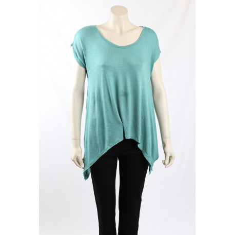 DKNY Jeans green jersey asymmetric top - Size M, 2nds