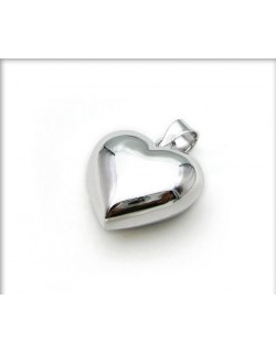 Chiming Heart shaped-Bola with silver chain