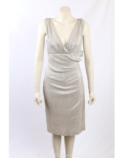 Ralph Lauren - Size 16 - gold metallic cocktail dress