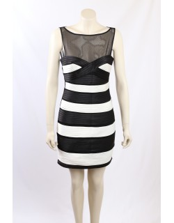 BCBG -Size 10- Black and White Occasion Dress