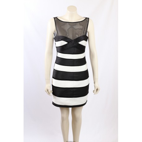 BCBG B&W Cocktail Dress - Size 10