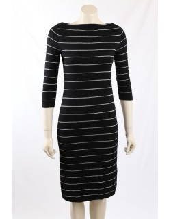 Ralph Lauren - Size M - Black Striped Sweaterdress