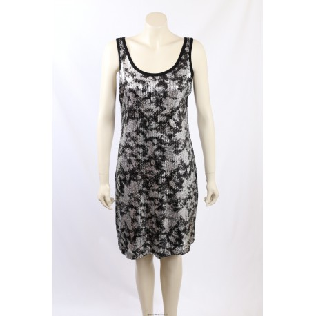 Karen Kane Silver Sequined Party Dress - Size 14