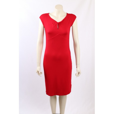 Ralph Lauren Red Stretch Fitted Dress - Size S