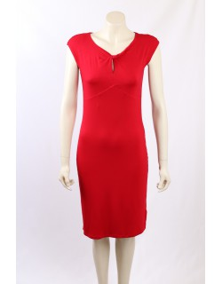 Ralph Lauren -Size M- Red Stretch Fitted Dress