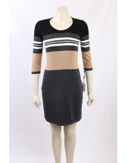 Calvin Klein - Size S/8-10 - Colour Block Sweater Dress