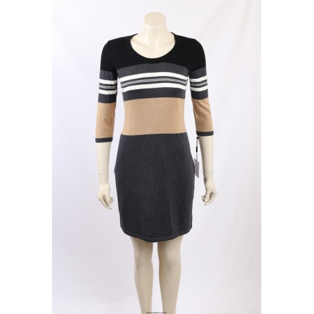 Calvin Klein Colour Block Sweater Dress - Size S/8-10