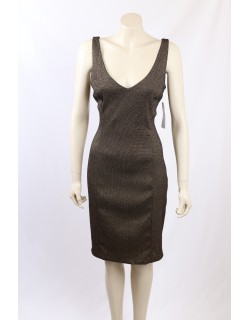 Ralph Lauren -Size 16- Gold/Black Formal Cocktail Dress