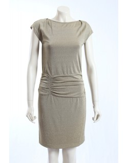 Donna Morgan -Size 6- Metalic Gold Formal Cocktail Dress