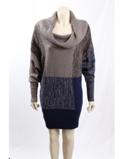 BCBG -Size S- Sweaterdress, Navy, Grey