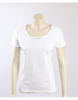 Ralph Lauren -Size L/16- White Stretch Cotton T-Shirt