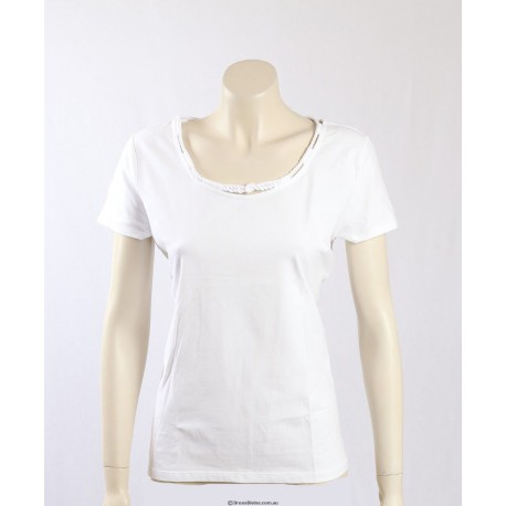 Ralph Lauren crisp white stretch cotton T-Shirt