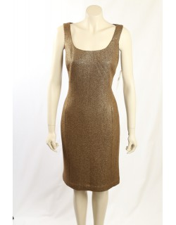 Ralph Lauren -Size 12/14- Gold Wool Dress