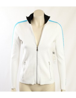 Ralph Lauren -Size S- White Cotton Zip Sweater Jacket