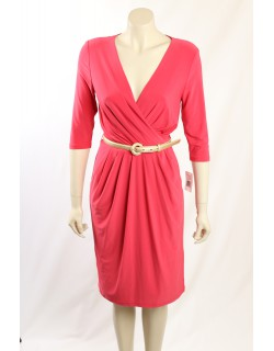 Ralph Lauren - Pink Matte Jersey Pleated Dress