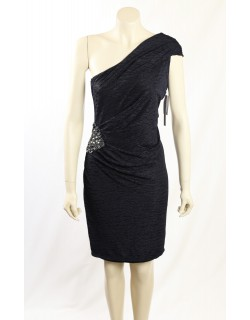 David Meister Navy Embellished Cocktail Dress
