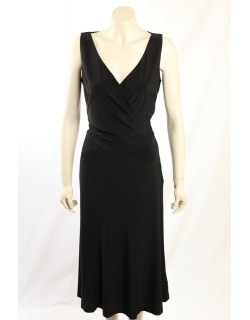 Ralph Lauren - Size 6/8 - Long Black Formal Cocktail Dress