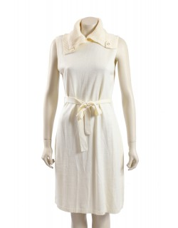 Calvin Klein -Size 14 - Ivory Belted Sweaterdress