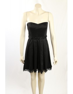 GUESS -Size 8- Black Sequins Lace Party Cocktail Dress