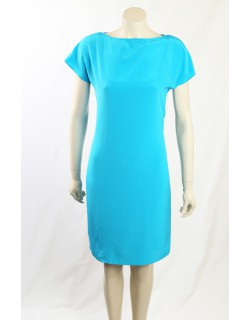 Ralph Lauren Blue Silk Wear to Work Dress