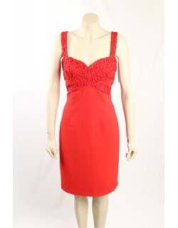 David Meister - Size 12- Red Cocktatil Dress
