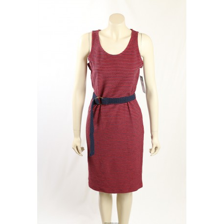 Ralph Lauren -Size S- Red, Navy Stretch Cotton Dress