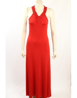 Ralph Lauren -Size L- Red Maxi Dress