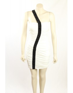 Guess -Size 8- White Party Dress with Black Sequins