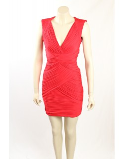 BCBG -Size XS- Red Ruched Cocktail Dress