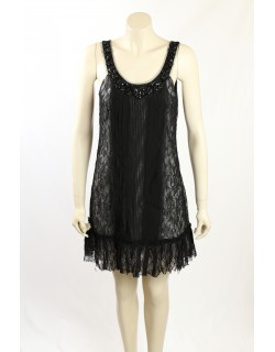 BCBG -Size 8- 1920s Black Occasion Dress