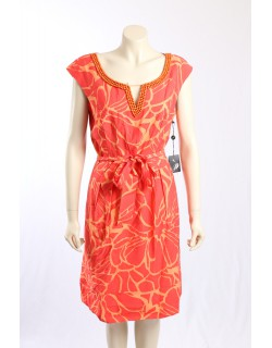 Adrianna Papell -Size 18- Orange Dress w/ Bead Detailing