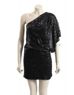 Jessica Simpson -Size 10/12- Black Sequin Party Cocktail Dress