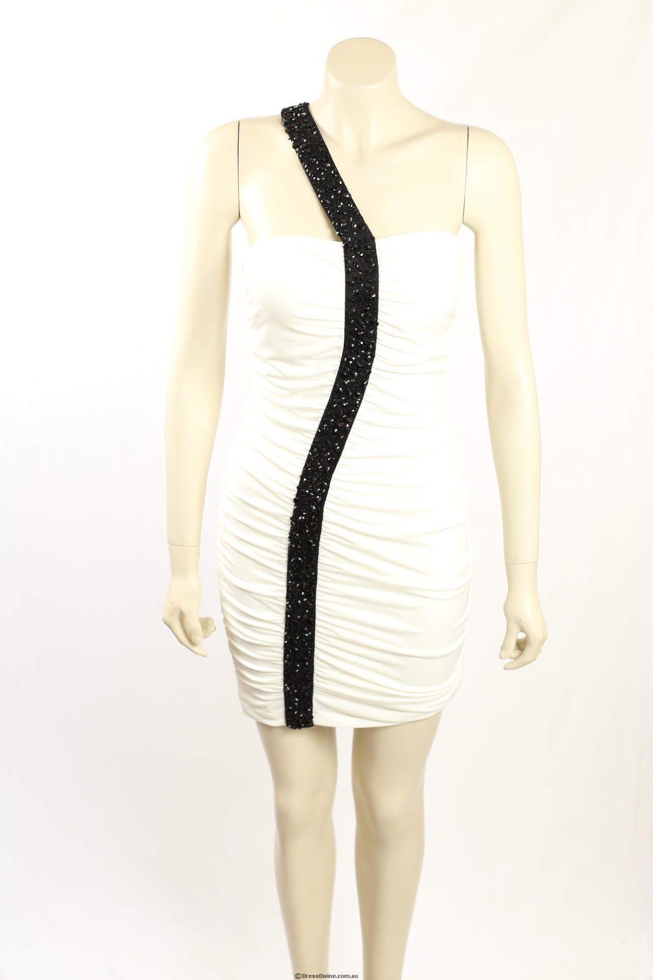 Guess -Size 10- White Party dress with Black Sequins