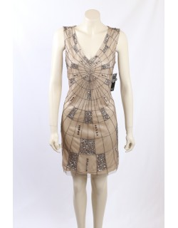 Adrianna Papell Sequined Cocktail Dress Size 12/14