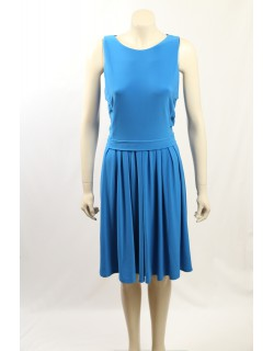 Ralph Lauren -Size 14 - Blue Pleated Work Dress