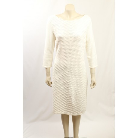 Ralph Lauren -Size XL- Stretch Cotton White Sweaterdress